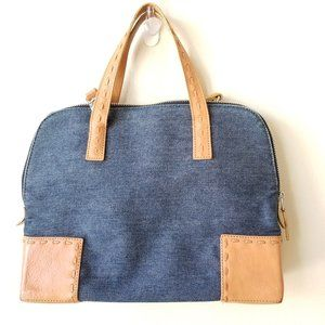 Cole Haan Denim and Leather Bag